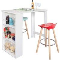 SoBuy Kitchen Dining Bar Table - White