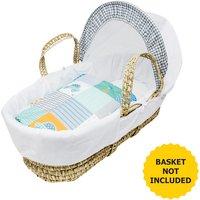 Patchwork Cars Moses Basket Bedding Set
