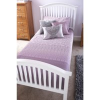 Madrid High Foot End Bed Frame - White / Small Double