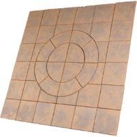 Bowland Stone Chalice Circle 2.7m Paving Kit  - Honey Brown