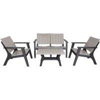 Bondi Wood Effect 5 Piece Sofa Set