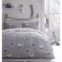 Penguins and Bear Duvet Cover and Pillowcase Set - Super King
