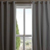 Blackout Lining Eyelet Curtains - White / 168cm / 224cm