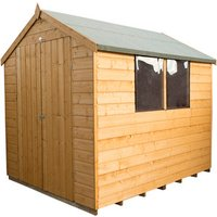8x6 Shiplap Dip Treated Apex Shed - 2 / No installation