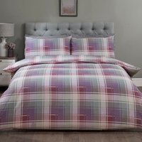 Mckinley Twinpack Duvet Cover and Pillowcase Set - Heather / King