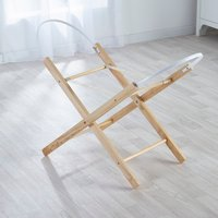 Grey Dimple Moses Basket with Natural Opal Folding Stand