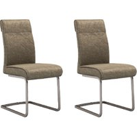 Pair of Saria Chairs - Brown