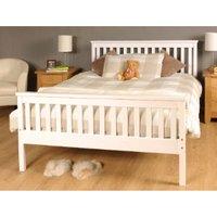 Atlantis Pine Bed Frame - White / Double