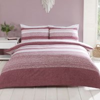 Inala Duvet Cover and Pillowcase Set - Ash Rose / Double