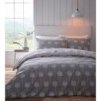 Silhouette Duvet And Pillowcase Set - Grey / Single