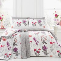 Ingrid Floral Blush Duvet Cover and Pillowcase Set - King