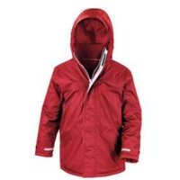 Back To School Parka Jacket - Red / 13-14 years