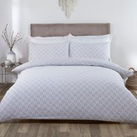 Linden Duvet Cover and Pillowcase Set - Grey / Single
