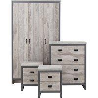 Boston 4 Piece Bedroom Set - Grey