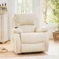 Copthorne Electric Riser Recliner with Massage and Heat - White