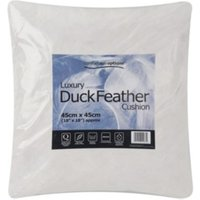 Comfortable Options Luxury Duck Feather Cushion - White