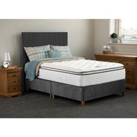 Jonas and James Hamilton Divan Bed Set With Mattress - Steel / 2 / Single