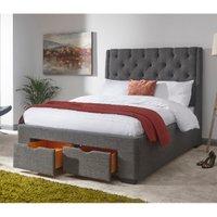 Koln Drawer Storage Bed Frame - Grey / Double