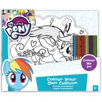 'My Little Pony Colour Your Own Cushion - Rainbow Dash