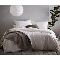 Portfolio Home Aspect Duvet Cover and Pillowcase Set - White / Super King