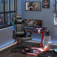 Gaming Chair with RGB LED Light - Black