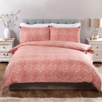 Kasumi Duvet Cover and Pillowcase Set - Terracotta / King