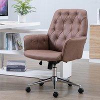 Linen Office Swivel Freely Chair - Coffee