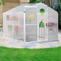 Aluminium Transparent Hobby Greenhouse, White - White / 2 / 313*190CM