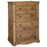 Corona Four Drawer Chest - Antique Pine