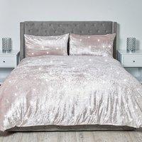 Portia Sparkle Duvet and Pillow Case - Blush / Double