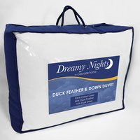 4.5 tog Duck Feather  Down Duvet - White / King size