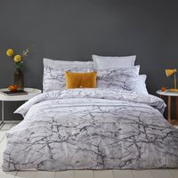 Palazzo Marble Printed Duvet Cover and Pillowcase Set - Double