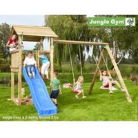Jungle Gym Casa with Swing with Installation - Brown