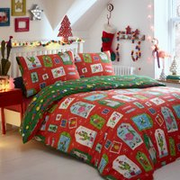 Curious Christmas Duvet Cover and Pillowcase Set - Double
