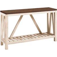 Ohara Rustic Entryway Table - Dark Walnut and White Oak