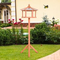 Bird Stand Feeder Table Feeding Station - Natural