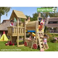 Jungle Gym Cubby Train with Installation - Brown
