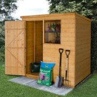 6 x 4ft Shiplap Dip Treated Pent Shed