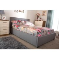 Regal Ottoman Bed Frame - Silver / Double