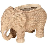 Elephant Wicker Planter