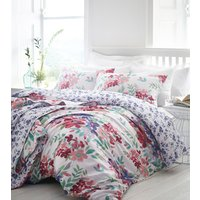 Kew Duvet Cover and Pillowcase Set  - Fuchsia / Super King