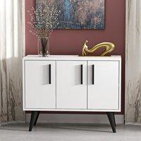 Larissa 3 Cabinet White Sideboard - White