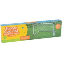 Soccer Goal Set with Ball and Pump