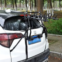 1 2 3 Car Bike Rack - Black