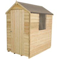 Overlap Pressure Treated Apex Shed 4 x 6