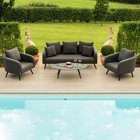 Maze Rattan Ambition Three Seater Sofa Set - Taupe