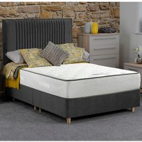 Jonas and James Salcombe Divan Bed Set With Mattress - Stone / 2 / Single