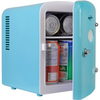 Koolatron Retro Portable 6 Can AC DC Mini Fridge Cooler - Blue