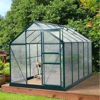 Polycarbonate Walk In Garden Greenhouse - Green