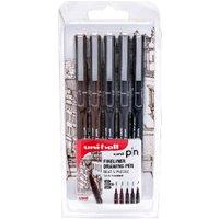 Uniball Pin Sepia Fineliner Drawing Set - 5